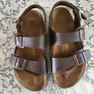 Birkenstock Arizona Brown Leather Sandles Size 6